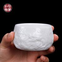 陈德根手工隐龙杯德化白瓷主人杯单杯大号羊脂玉小茶杯单只陶瓷