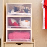 [当当自营]百草园(bicoy)塑料收纳箱 可组合收纳柜抽屉柜 抽屉式储物柜 40L 1个装 透明色