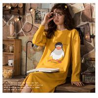 南极人睡衣女士家居服睡裙可外穿棉质舒适透气KH6211