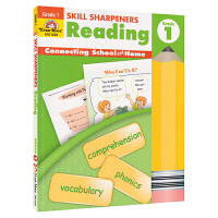 Evan-Moor Skill Sharpeners Reading Grade 1 小学一年级英语阅读练习册 美国加