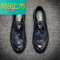 新品上市19新款男鞋一脚蹬内增高休闲鞋子男韩版青年潮男鞋套脚板鞋