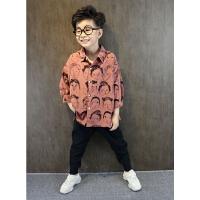 秋装男童长袖衬衫中大童儿童衬衣春秋季男孩街舞童装