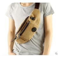 小巧便携舒适旅行包韩版单肩斜挎包胸包骑行包两用腰包帆布男包