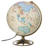 【全新正版T】 博目地球仪:30cm中英文政区古典立体地球仪