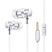 K3耳机入耳式 金属重低音耳塞手机电脑耳麦运动通用带麦 入耳式耳塞带麦电脑手机通用耳麦立体声有线线控手机耳机