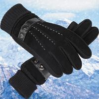 手套男士冬天户外保暖加厚骑车加绒防寒触屏骑行摩托车冬季棉手套