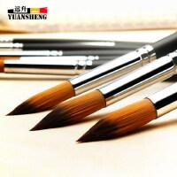 博格利诺牌尼龙毛水彩画专用笔 双号9支尖头水彩画笔套装