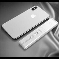 【新品】 数据线三合一通用手机充电器多头功能快充苹果安卓一拖三便携收纳短华为p20多用二合一拖ty 【充电宝款】贵族白