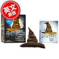 现货 哈利波特 分院帽摆件 贴纸书 英文原版 Harry Potter Talking Sorting Hat and