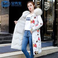 【拒绝套路,底价包邮】2019新款两面穿中长款女装棉衣女韩版加厚大毛领棉服外套