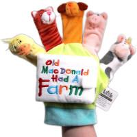 英文原版进口 Old Mac Donald Had A Farm 老麦克唐纳的农场 手指偶书 吴敏兰推荐 亲子互动游戏