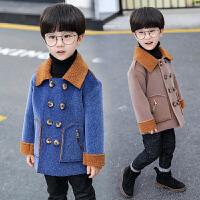 男童呢子外套秋冬装潮儿童毛呢上衣男宝宝中长款风衣