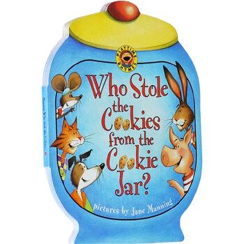 英文原版绘本 进口正版 Who Stole the Cookies from the Cookie Jar? 谁从饼干罐里偷走了饼干英文绘本 抽拉游戏机关纸板书 进口正版 抽拉游戏机关纸板书