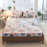 双面加厚雪花绒床笠单件冬季保暖席梦思床垫保护套法兰珊瑚绒床罩
