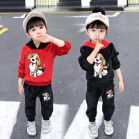 男宝宝秋装套装女童运动中小童两件套