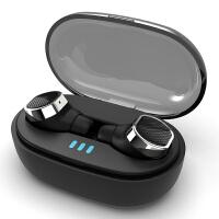 蓝牙耳机白色双耳无痛佩戴适用于x3 z5s s5真无线入耳式听歌专用音乐重低音打电话两只 真无线 自动配对【魅力黑】蓝