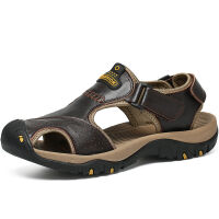 【头层牛皮】夏季凉鞋男包头凉鞋牛皮厚底沙滩鞋防滑凉鞋透气