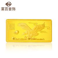 菜百首饰10g大展宏图饰品金条 足金Au999黄金金条 收藏*金条