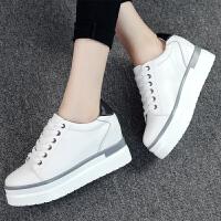 ZHR2017春季新款韩版真皮小白鞋内增高女鞋休闲鞋平底单鞋B15