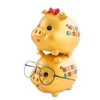 文字小金猪存钱罐 储蓄罐 储钱罐 儿童零钱储存罐 创意树脂工艺品