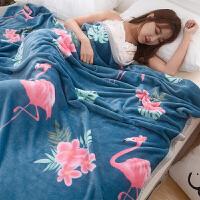 毯子薄款毛巾被办公室午睡神器沙发空调毛毯床单珊瑚绒小毯子