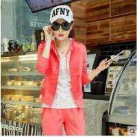 韩版卫衣三件套运动套装 新品运动服女士休闲套装