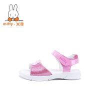 Miffy米菲女童凉鞋2017新款韩版凉鞋夏季潮女孩亮面沙滩鞋公主鞋