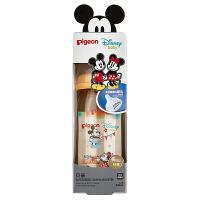 """贝亲Disney""""自然实感""""宽口径PPSU彩绘奶瓶240ml配M奶嘴(米奇米妮-派对)"""