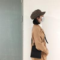 韩国复古秋冬英伦格子八角帽日系百搭画家贝雷帽子少女文艺鸭舌帽 M(56-58cm)