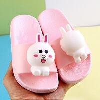 夏季新款儿童凉拖鞋宝宝可爱小熊兔拖鞋男女童室内家居防滑凉拖鞋