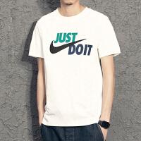 Nike耐克2019年新款男短袖 JUST DO IT 潮流休闲宽松透气运动圆领T恤AR5007-102