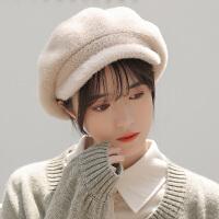 帽子女冬天韩版潮休闲街头可爱甜美学生百搭时尚鸭舌针织毛线帽女