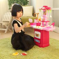 儿童过家家厨房玩具 女孩做饭厨房过家家玩具 宝宝厨具餐具可出水