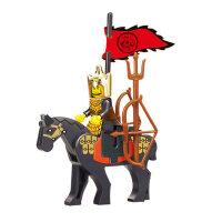 小鲁班积木塑料拼插玩具拼装军事名将魏延儿童拼装积木