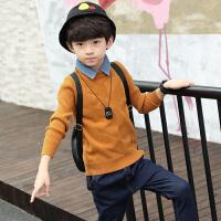 童装男童毛衣秋冬装儿童打底衫圆领男孩套头针织衫潮