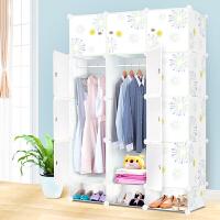 御目 大衣柜 韩式组装简易简约现代布艺组合经济型塑料折叠成人衣柜衣服收纳柜置物柜子 创意家具