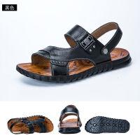 【 *赔十 真牛皮】凉鞋男男土新款凉拖鞋防滑百搭沙滩鞋子
