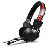 声籁 电音DT801头戴式笔记本电脑耳机 重低音耳麦 线2.5米