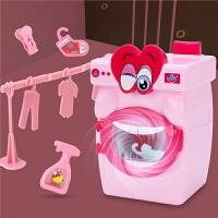 儿童迷你网红洗衣机小型玩具手动滚轮套装