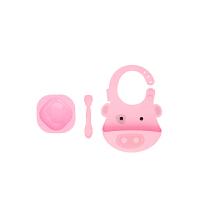 【当当自营】加拿大 MARCUS&MARCUS 婴儿喂食礼品套装 粉色猪猪