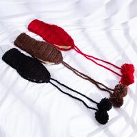 毛线耳罩女冬季保暖可爱猫耳朵耳暖复古针织发带耳包耳套