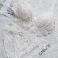 日系软妹可爱女生蕾丝棉无钢圈三角杯内衣少女甜文胸套装