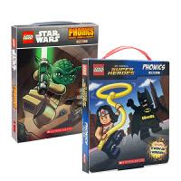 【全店300减100】英文原版乐高学乐分级英语阅读物宇宙英雄系列【两盒装24册】Lego DC Universe Sup