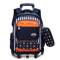 新款小学生拉杆书包男童女童1-3-6年级6-12周岁双肩背包书包