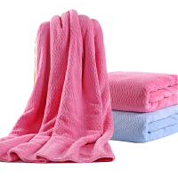 卡伴儿童浴巾超柔软吸水新生儿毛巾被宝宝儿童盖毯洗澡巾提花波浪纹浴巾75*150cm