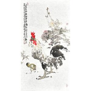 山东省美术家协会会员 李东献《大吉图》gh04229