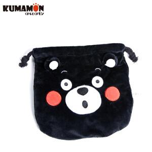 熊本熊绒布袋束口袋 KUMAMON酷MA萌抽绳迷你小布袋收纳包可爱卡通乾坤袋 GZ1205