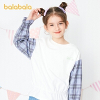 巴拉巴拉童装女童t恤打底衫春装2021新款中大童上衣荷叶边韩系