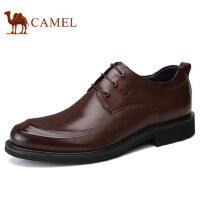 camel 骆驼男鞋时尚轻盈嫩滑商务正装胎皮鞋柔软缓震牛皮休闲皮鞋