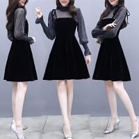 2018新款显瘦韩版两件套裙子春秋裙秋装早秋女装秋季连衣裙女长袖